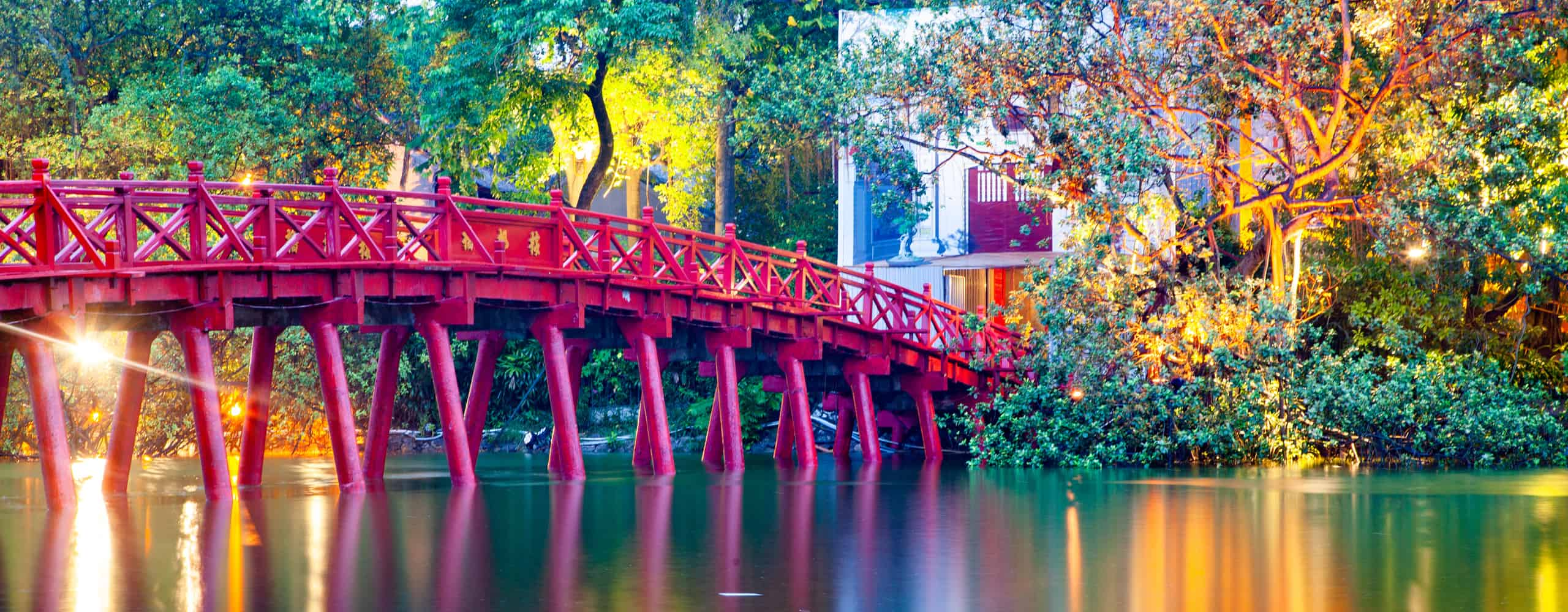 Elegant Red Bridge - Hanoi, Vietnam