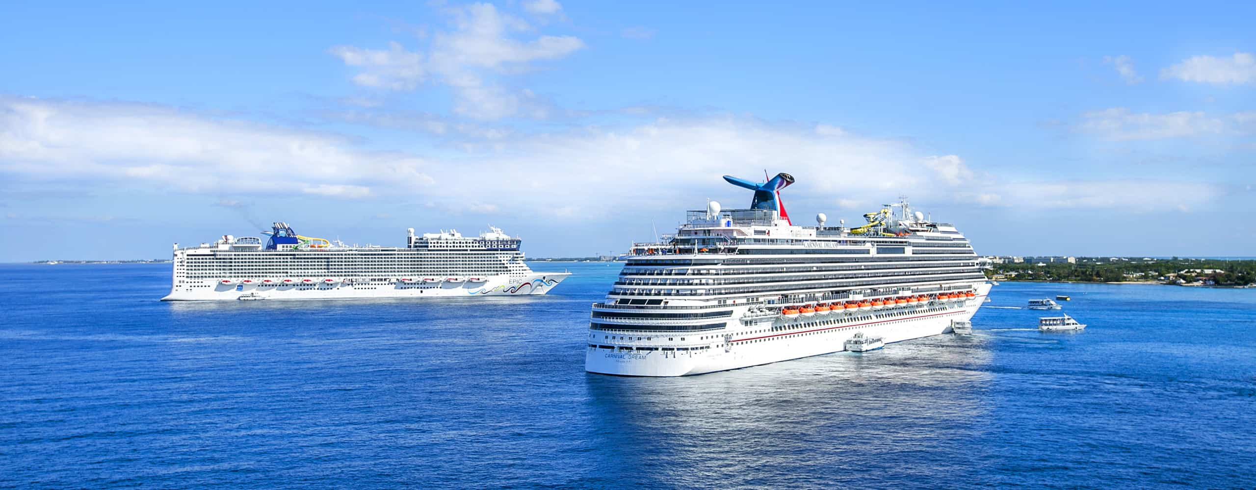 Norwegian And Carnival Cruise Ships