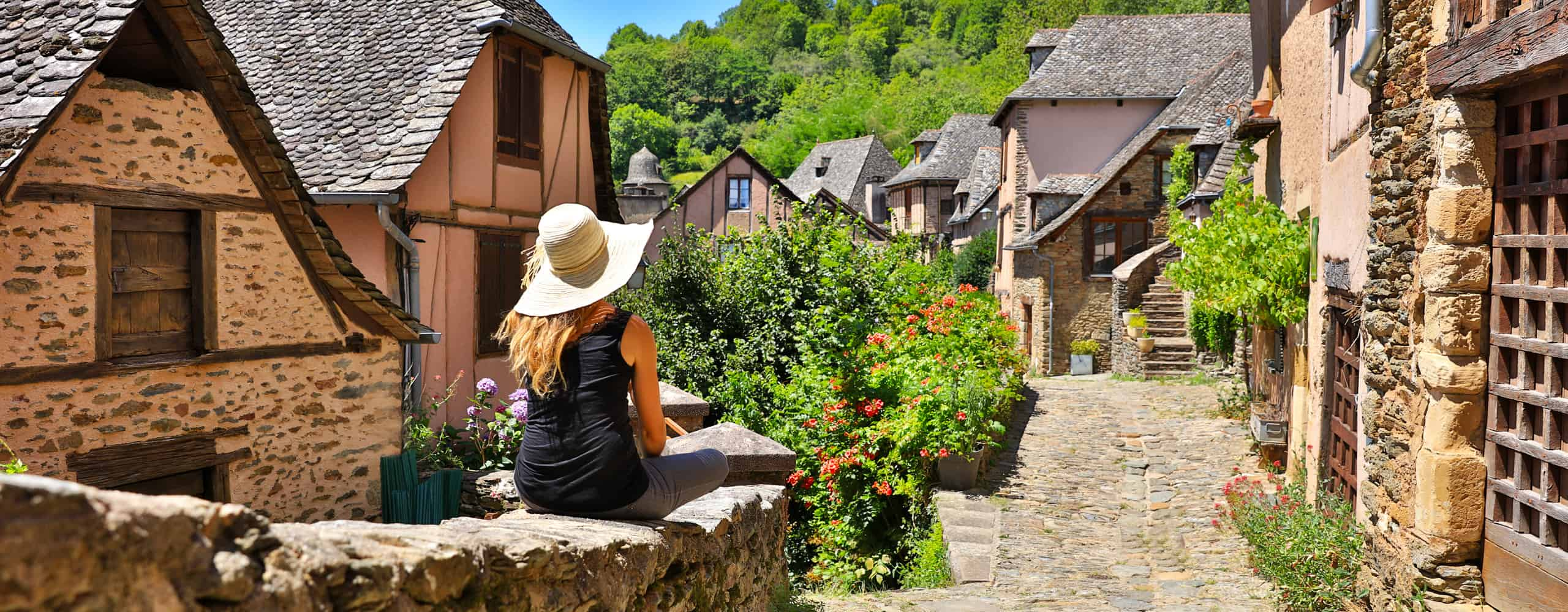 Village Of Conques, France
